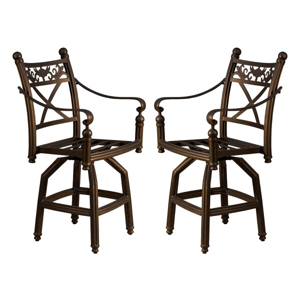 Baldwin 27.25 Swivel Patio Bar Stool (Set of 2) by California Outdoor Designs