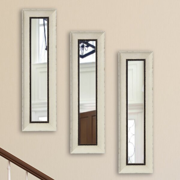 Tonbridge Jaded Panel Accent Mirror (Set of 3) by Rosecliff Heights