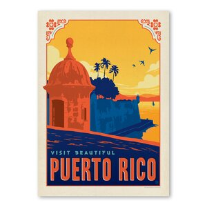 Puerto Rico Vintage Advertisement by East Urban Home