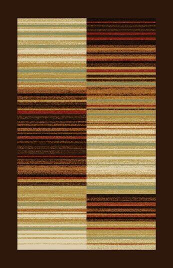 Dzu Brown/Beige Area Rug by Red Barrel Studio