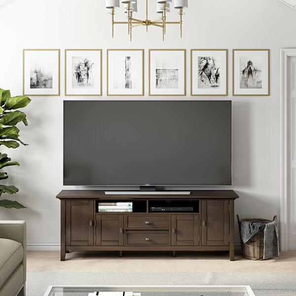 Amatury Solid Wood TV Stand For TVs Up To 80