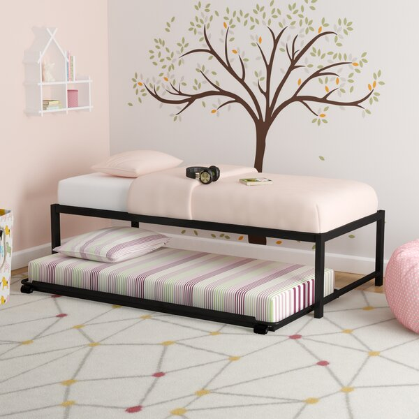 Josef Twin Platform Bed with Trundle by Zoomie Kids