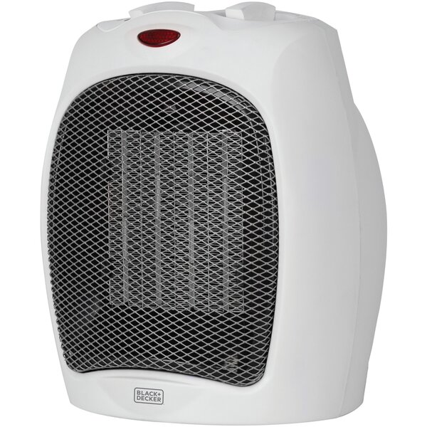 1,500 Watt Electric Forced Air Compact Heater By Black + Decker