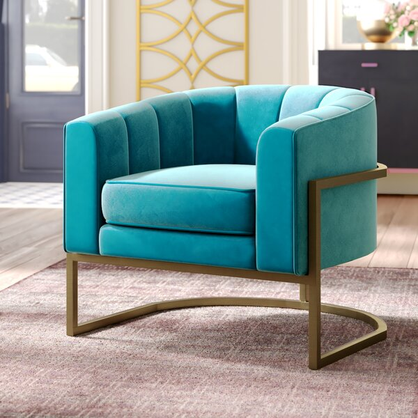 Cranbrook Barrel Chair by Everly Quinn