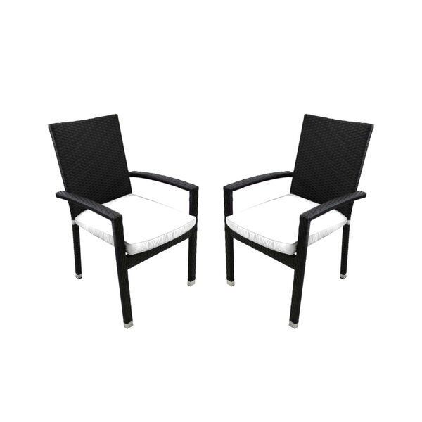 Stacking Patio Dining Chair with Cushion (Set of 2) by Northlight Seasonal