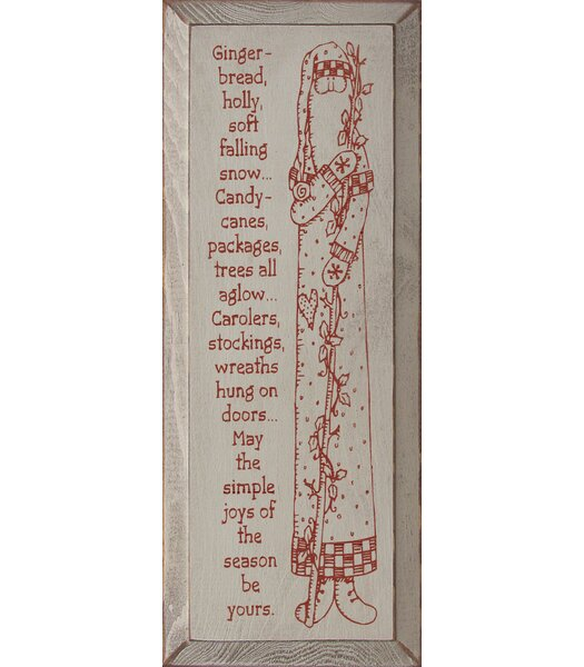 Tall Santa Picture With Christmas Poem Textual Art Plaque by Sawdust City
