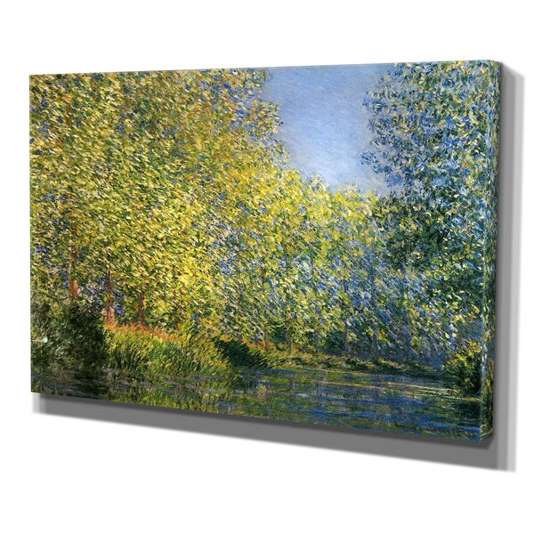 Bend in the River by Claude Monet Print of Paintin