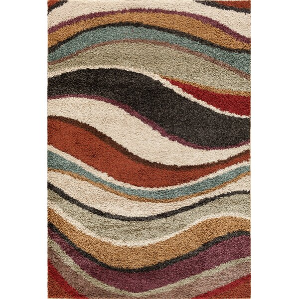 Hamilton Black/Red Area Rug by Threadbind
