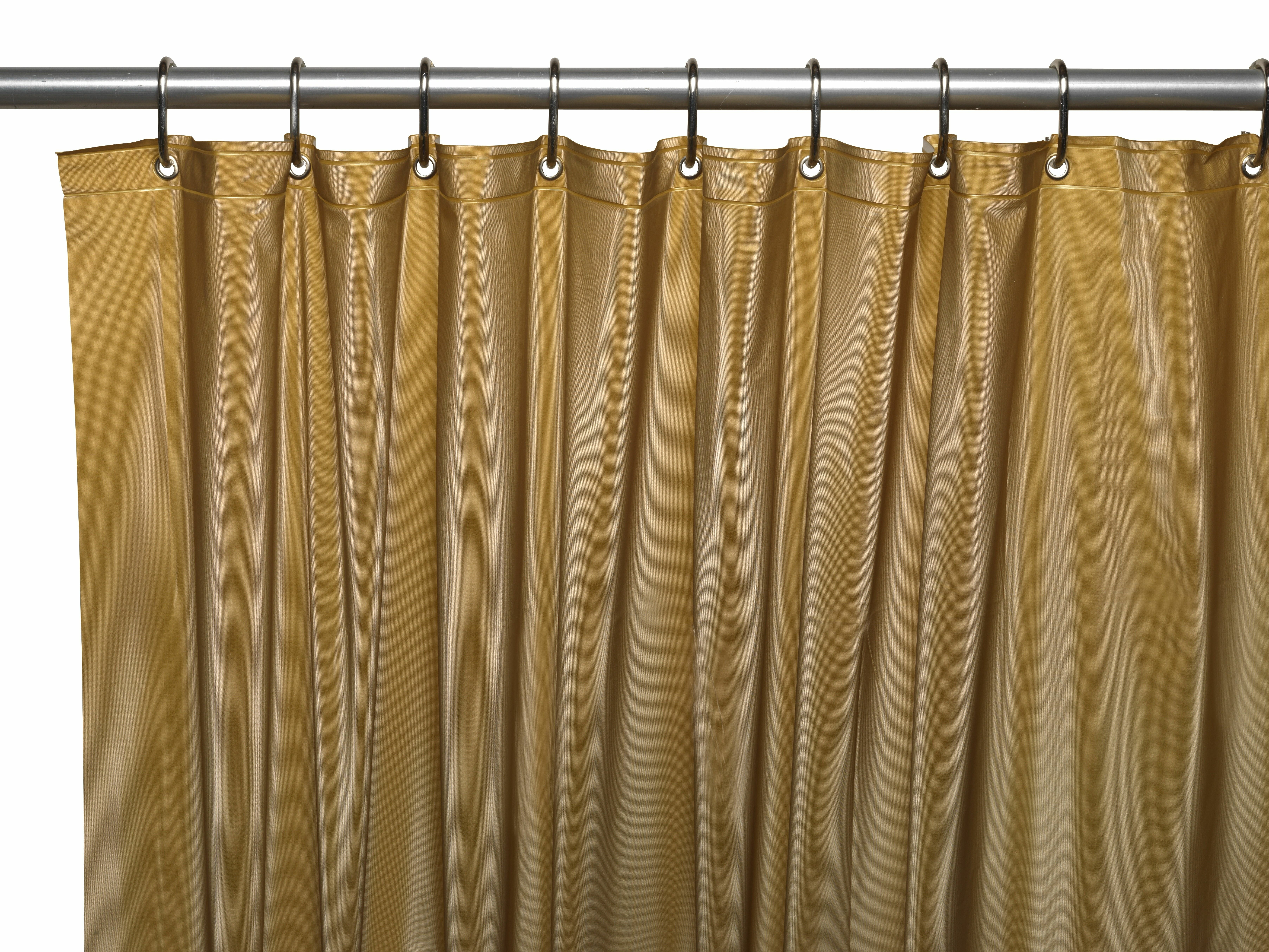 Ben And Jonah Hotel 8 Gauge Vinyl Shower Curtain Liner With Weighted Magnets Metal Grommets