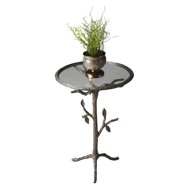 Chrystal End Table by Fleur De Lis Living