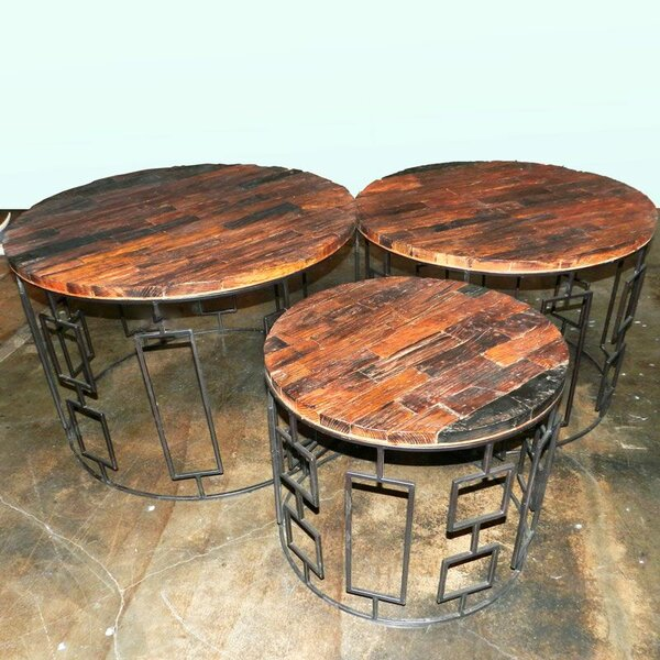 Seychella 3 Piece Wooden Chat Table Set by Union Rustic