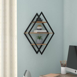 Vachel Diamond Wall Shelf