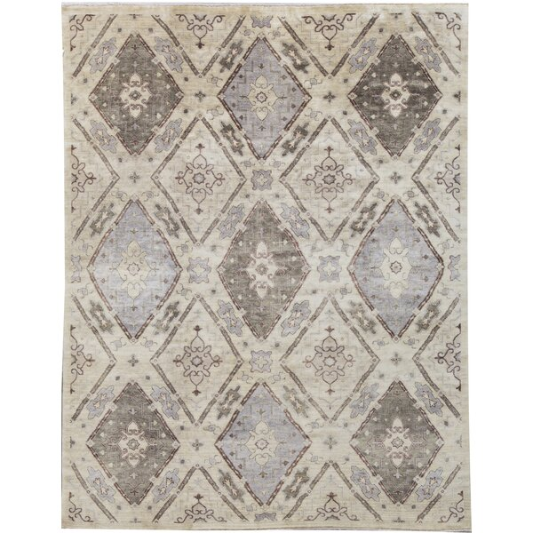 Hand-Knotted Wool Gold Area Rug
