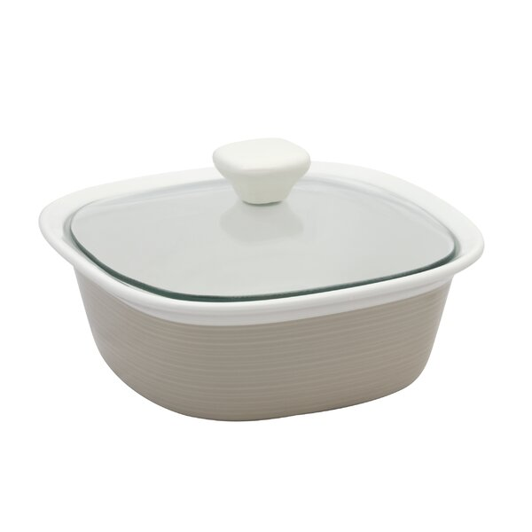 Etch Square 1.5 Qt. Dish with Glass Cover by Corningware