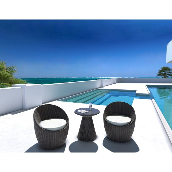 Balcony 3 Piece Conversation Set With Cushion by UrbanMod UrbanMod