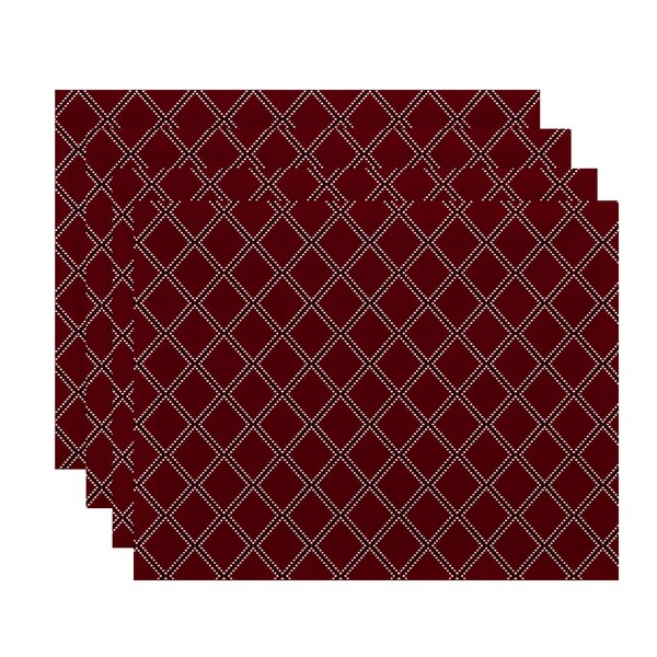 Albion Diamond Dots Geometric Print Placemat (Set of 4) by East Urban Home