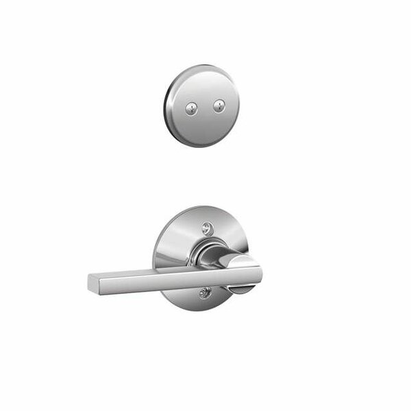Interior Non-Turning Latitude Lever and Interior Inactive Deadbolt Thumbturn by Schlage