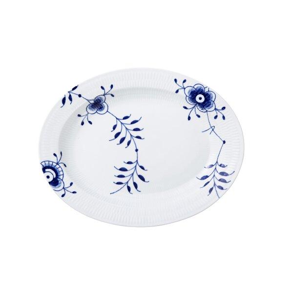 Blue Fluted Mega Oval Platter by Royal Copenhagen