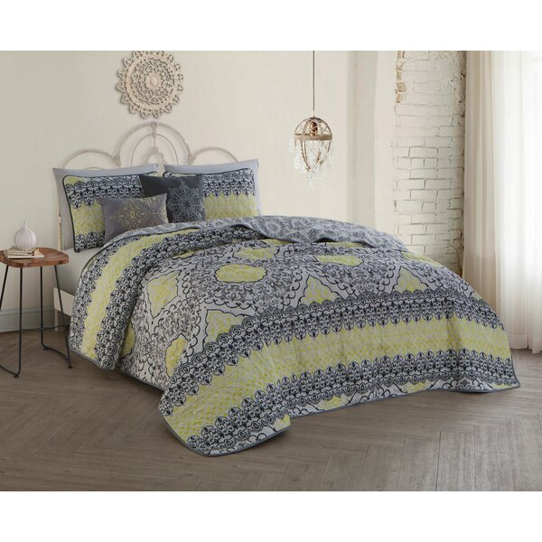 Ruybal 5 Piece Quilt Set by Bungalow Rose