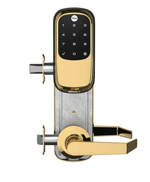 Yale Real Living YRC246NRNW5619 Assure Lock Keyless Touchscreen Stand Alone Norwood Interconnected Lockset and Deadbolt Satin Nickel Finish by Yale