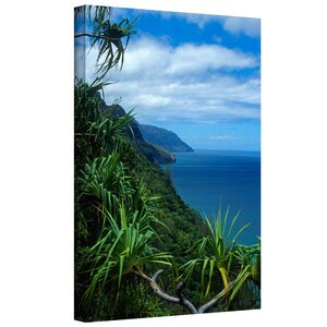 'Kalulua Trail Kauai' by Kathy Yates Photographic Print on Wrapped Canvas by ArtWall