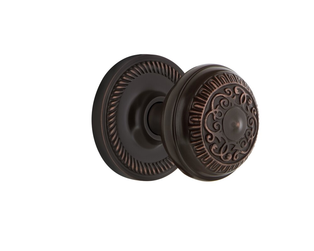 Nostalgic Warehouse Egg & Dart Passage Door Knob with Rope Rosette ...