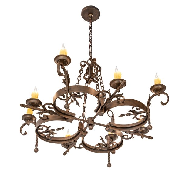 Griffing 8 - Light Candle Style Geometric Chandelier By Fleur De Lis Living