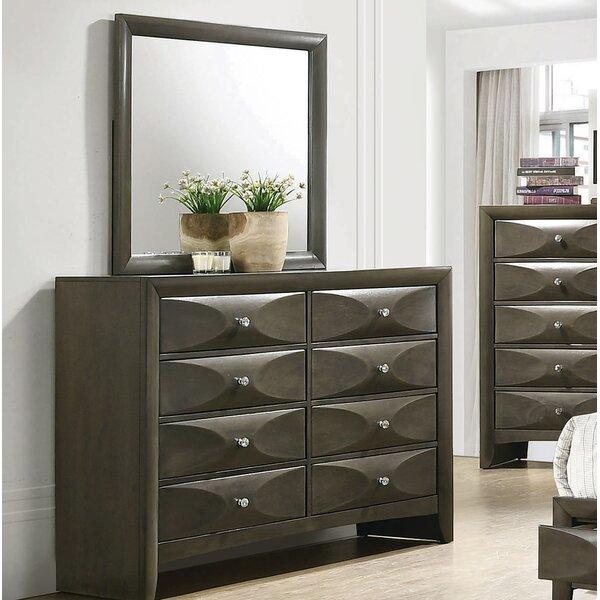Middleton 8 Drawer Double Dresser with Mirror by Brayden Studio