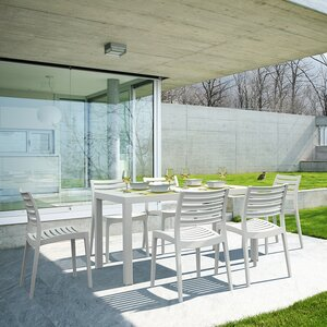 Melissus Outdoor 7 Piece Dining Set