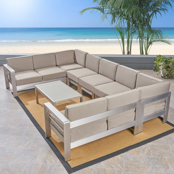 Royalston 6 Piece Sectional Seating Group with Cushions by Brayden Studio