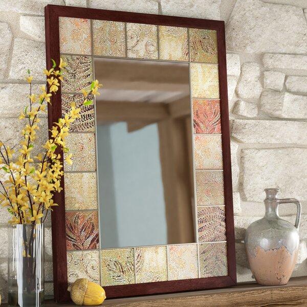 Leaf Tile Bathroom/Vanity Wall Mirror by Loon Peak