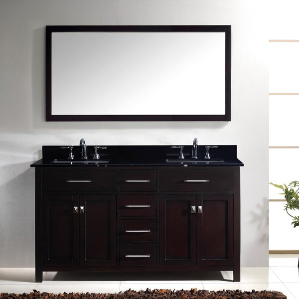 Kenilworth 60 Double Bathroom Vanity Set with Mirror by Highland Dunes