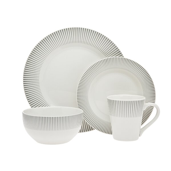 Ravi 16 Piece Dinnerware Set, Service for 4 by Godinger Silver Art Co