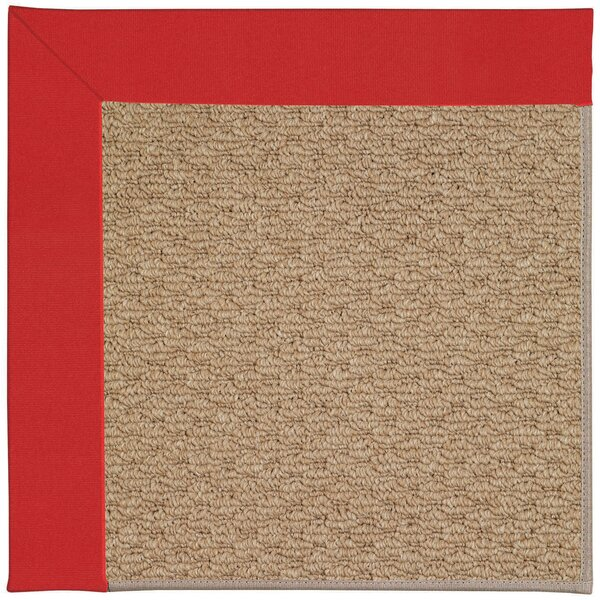 Lisle Machine Tufted Red/Brown Indoor/Outdoor Area Rug by Longshore Tides