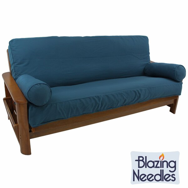 Premium Box Cushion Futon Slipcover Set by Blazing Needles