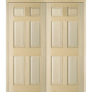 6 Panel Double Solid Manufactured Wood Paneled MDF Prehung Interior Door