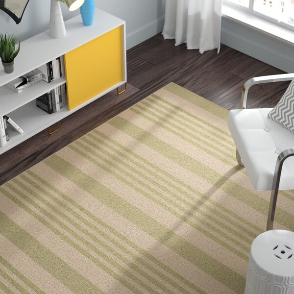 Sophina Beige/Sweet Pea Striped Contemporary Indoor/Outdoor Area Rug by Zipcode Design