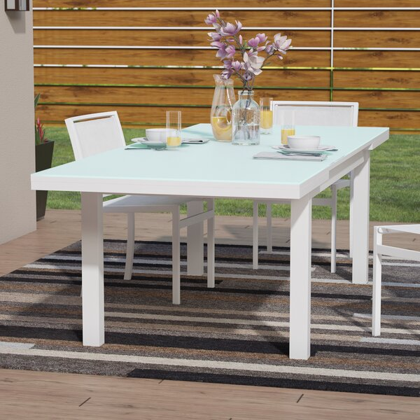 Drumankelly Glass Dining Table by Orren Ellis