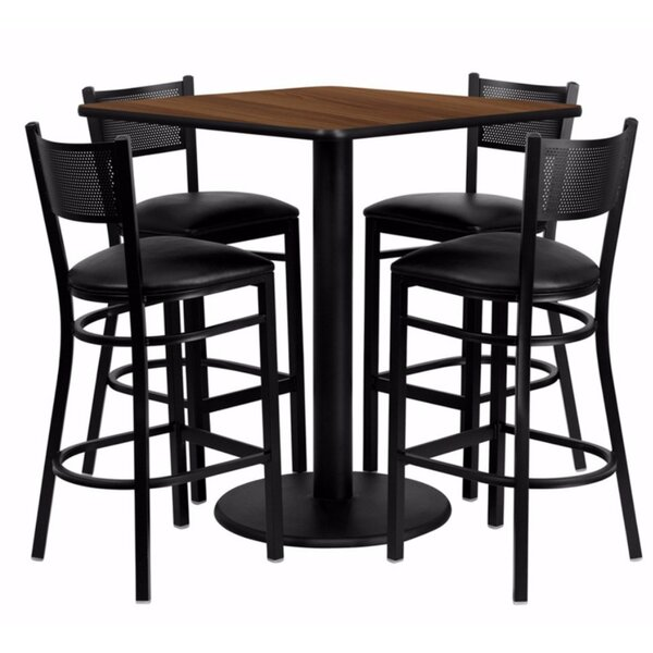 Harbaugh Square Laminate 5 Piece Pub Table Set by Red Barrel Studio