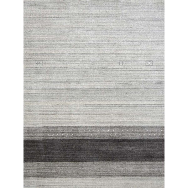 Works Blend Hand Woven Silk Light Gray Area Rug by Ebern Designs