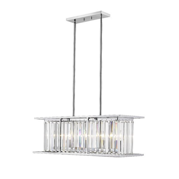 Cavanaugh 5 - Light Unique / Statement Square / Rectangle Chandelier with Crystal Accents by Rosdorf Park Rosdorf Park