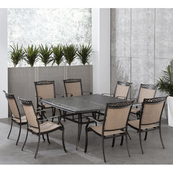 Bucher 9 Piece Outdoor Dining Set by Fleur De Lis Living