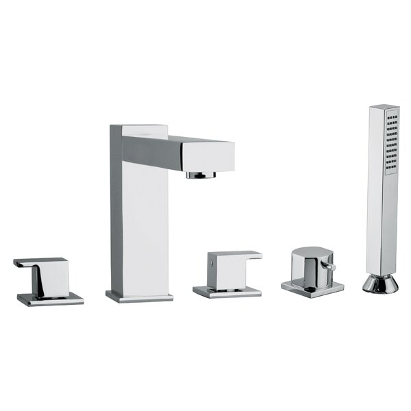 J12 Bath Series Double Handle Deck Mounted Roman Tub Faucet with Handshower by Jewel Faucets Jewel Faucets