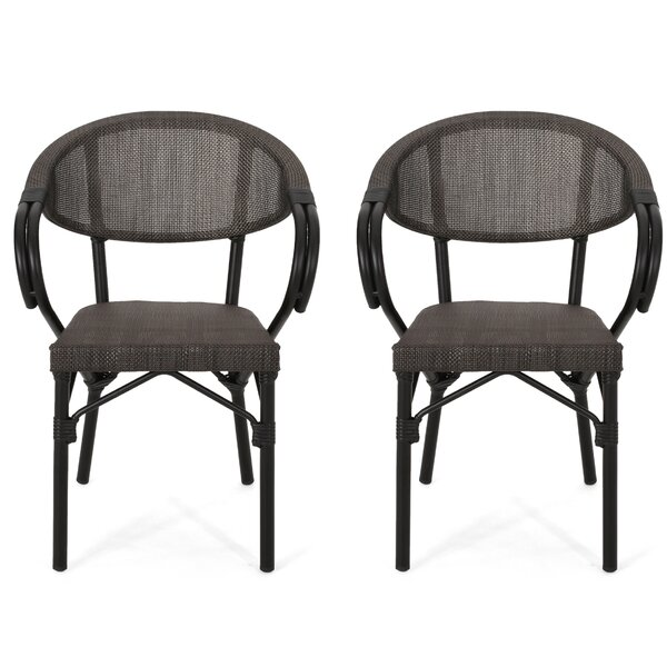 Jaymee Outdoor Patio Dining Chair (Set of 2) by Ebern Designs