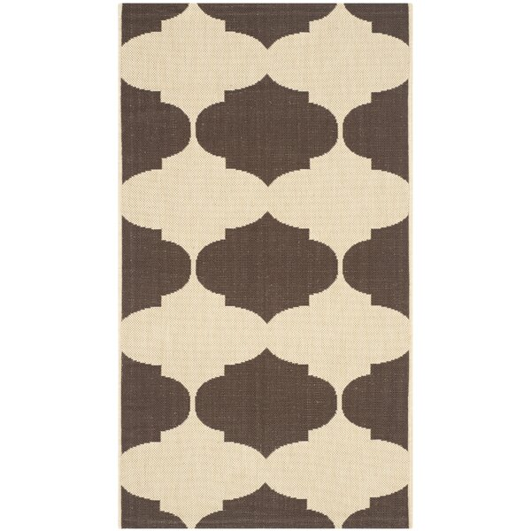 Short Beige/Chocolate Contemporary Rug by Winston Porter