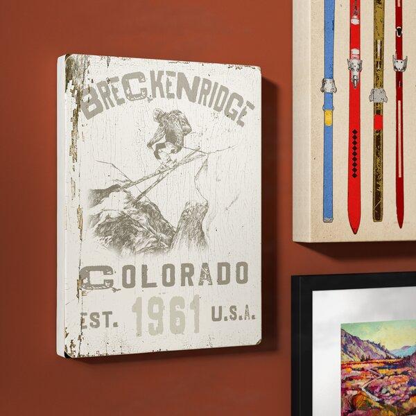 Vintage Country Ski Graphic Art in Black by Loon Peak