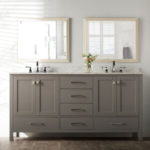 Newtown 72  Double Bathroom Vanity Set Vanities You ll Love Wayfair