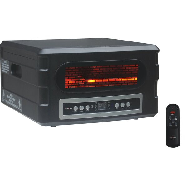 1,500 Watt Electric Infrared Compact Heater with Remote Control by Advanced Tech Infrared