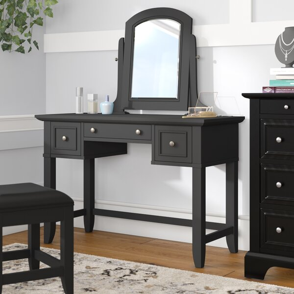 Marblewood Vanity with Mirror by Alcott Hill