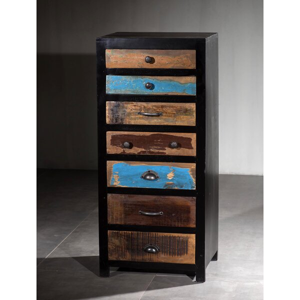 Danville Wooden 7 Drawer Lingerie Chest by Millwood Pines Millwood Pines